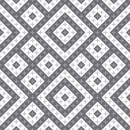 Seamless pattern. Simple elegant texture. Regularly repeatition geometrical shapes, dotted crosses and rhombuses. Vector element of graphical design 일러스트