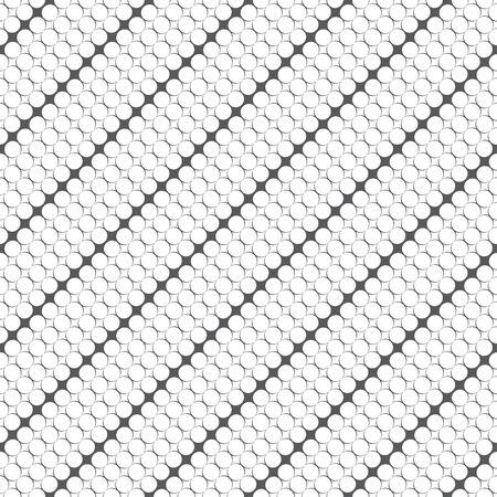 Seamless pattern. Modern stylish texture. Infinitely repeating geometrical texture. Stripes with small rhombuses. Grid with outline circles, diamonds. Vector element of graphical design Illustration