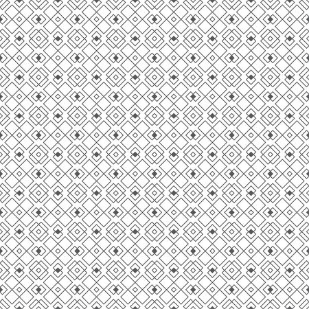 Vector seamless pattern. Abstract small textured background. Classical simple repeating geometrical texture with outline intersecting rhombuses, crosses. Surface for wrapping paper, shirts, cloths.