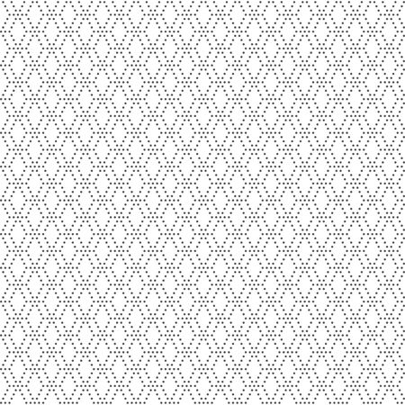 Vector seamless pattern. Modern stylish texture. Regularly repeating small dotted rhombus shapes, rhombus, hexagon. Abstract background. Vector element of graphical design Illustration