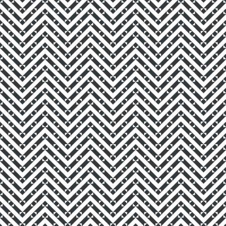 Vector seamless pattern. Infinitely repeating modern geometrical texture consisting of zigzag strips, triangles and rhombuses which form classical tiled ornament.