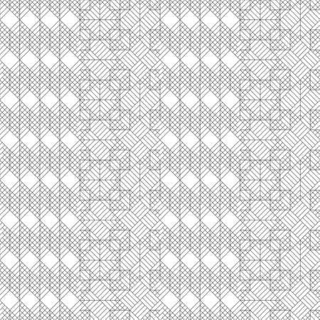 Vector seamless pattern. Modern stylish texture with thin lines which form regularly repeating tiled hexagonal linear grid with striped hexagons and rhombuses. Abstract geometric background