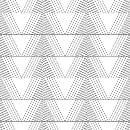 Vector seamless pattern. Modern simple geometrical texture. Regularly repeating linear triangles. Contemporary textured background. Trendy thin line style 스톡 콘텐츠 - 150661916