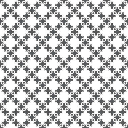 Seamless pattern. Modern simple texture. Regularly repeating elegant geometrical tiles with crosses, dots. Abstract textured background. Simple wallpaper. Vector element of graphical design 일러스트