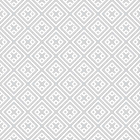 Seamless pattern. Modern stylish texture. Regularly repeating geometrical tiles with crosses, rhombuses. Vector element of graphical design