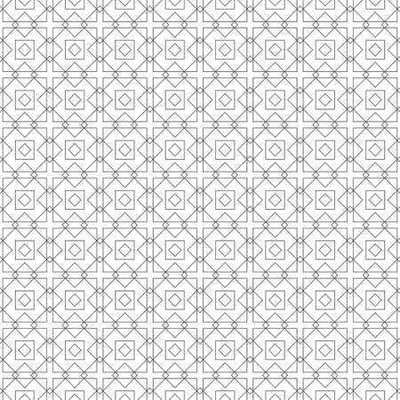 Seamless pattern. Modern stylish texture. Regularly repeating geometrical shapes, rhombuses, diamonds, corners. Thin line. Linear maze, labyrinth. Vector element of graphical design 스톡 콘텐츠 - 152359608
