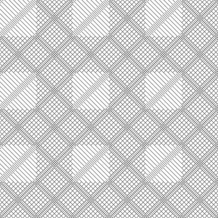 Seamless pattern.Modern stylish geometrical texture.Abstract textured background.Regularly repeating zigzag thin lines, linear rhombuses, diamonds, grids.Outline.Contour.Vector element graphical design 일러스트