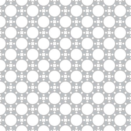 Seamless pattern. Repeating modern geometrical texture consisting of circles, dots, rhombuses.
