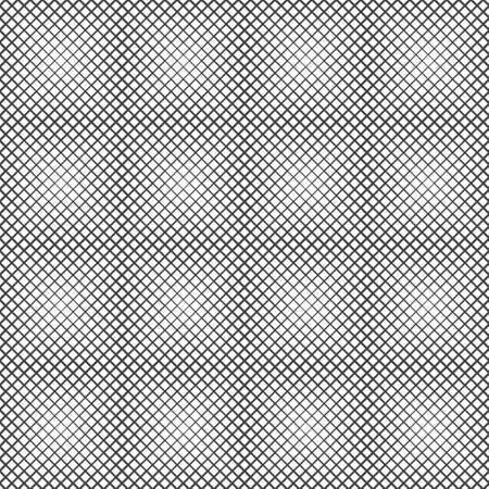 Abstract halftone linear background. Modern geometrical texture. Repeating square shapes with intersecting lines of the different thickness. Contemporary design