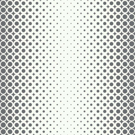 Infinitely repeating stylish elegant texture consisting of rhombuses and dots of the different size which form gradation from bigger to smaller. Halftone effect. Illustration