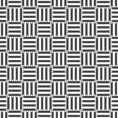 Seamless pattern. Repeating modern geometrical texture consisting of strips, small triangles, squares.