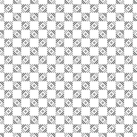 Modern stylish texture. Regularly repeating geometrical ornament with small rhombuses, crosses, checks. Classical abstract textured background.