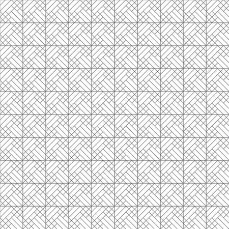 Infinitely repeating modern geometrical texture consisting of intersecting thin lines which form checkered linear background with zigzag shapes. rhombus lattices