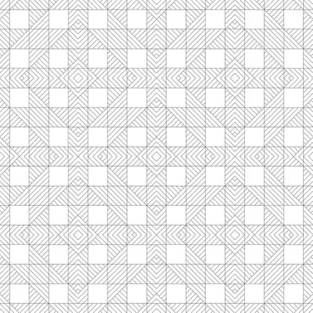 Modern stylish texture. Regularly repeating geometrical ornament with linear rhombuses, diamonds, checks. Classical abstract textured background.