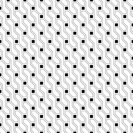 Seamless pattern. Stylish geometric texture. Modern linear ornament. Regularly repeating thin line grids with intersecting geometrical outline shapes: squres; hexagons; polygons