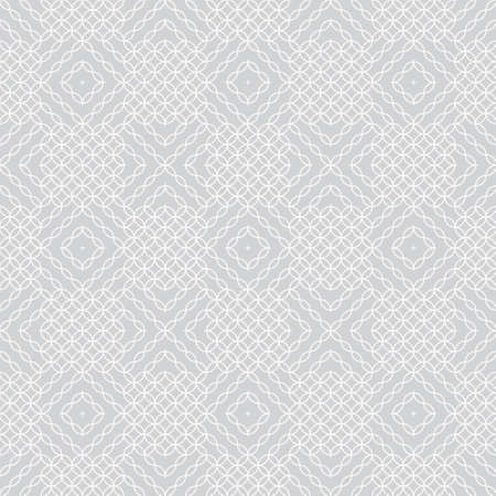 Infinitely repeating stylish elegant texture consisting of circles, rhombuses, diamonds. Modern geometrical textured ornamental background.