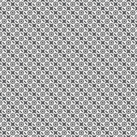 Infinitely repeating modern texture consisting of small crosses and dots. Abstract seamless textured background.