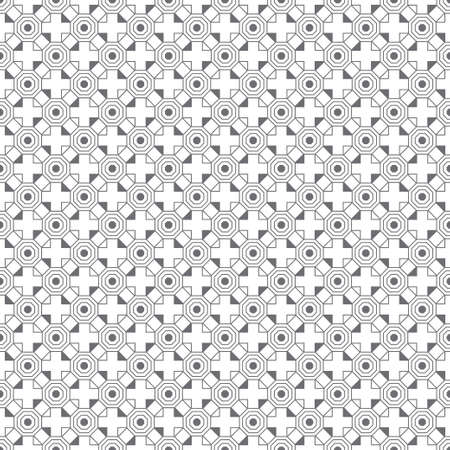 Infinitely repeating simple elegant texture consisting of outline hexagons, crosses, triangles. Geometrical cover surface. Illustration