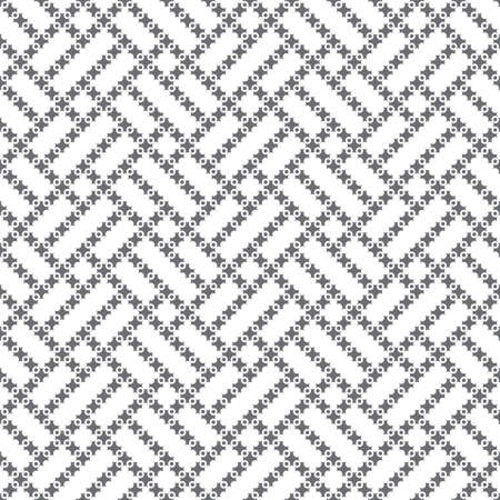 Seamless pattern. Modern simple texture. Regularly repeating elegant geometrical tiles with crosses, dots, rectangle shapes. Abstract textured background. Simple wallpaper.