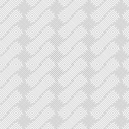 Seamless pattern. Infinitely repeating stylish elegant texture consisting of linear grid, rhombuses, thin lines. Abstract geometrical textured background.
