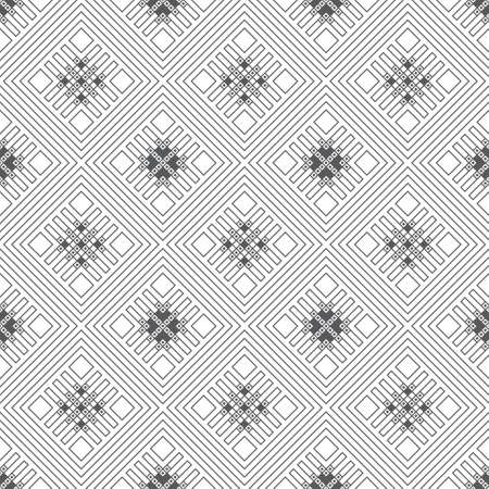 Infinitely repeating stylish elegant texture consisting of thin lines which form rhombus tiles with outline strips, diamonds. Modern geometrical background.