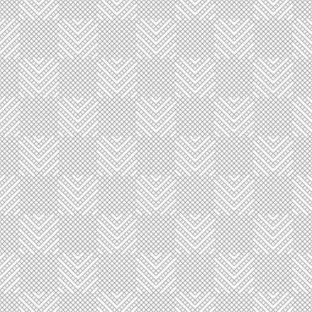 Abstract textured background. Modern stylish monochrome texture. Regularly repeating linear grid with rhombuses, diamonds, corners. Thin. line.