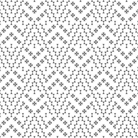 Seamless pattern. Abstract small textured background. Modern geometrical texture. Regularly repeating triangles, crosses. Surface for wrapping paper, shirts, cloths. Vector element of graphical design