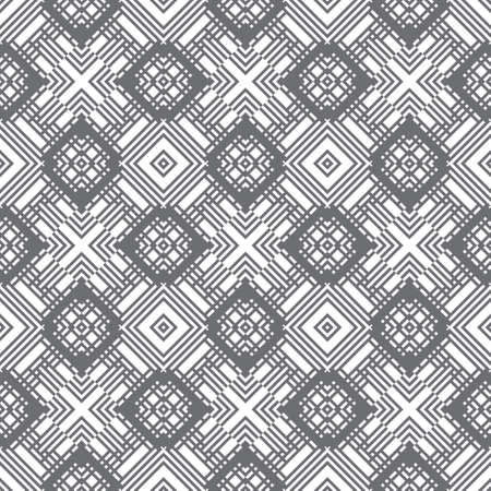 Seamless pattern. Modern stylish texture. Regularly repeating geometrical tiles with rhombuses, diamonds, triangles. Vector element of graphical design