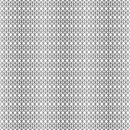 Vector seamless pattern. Infinitely repeating elegant modern geometrical texture. Hexagonal linear grid with hexagons, rhombuses, triangles. Halftone effect. Gradation. Thin lines of various thickness