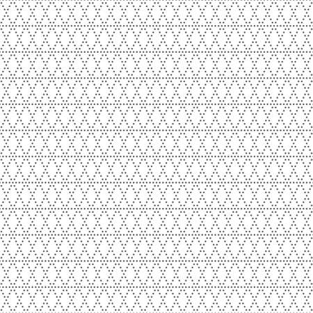 Seamless pattern. Trendy modern geometrical texture with regularly repetition small dots, dotted lines, triangles, rhombuses. Small textured light background. Vector element of graphical design.