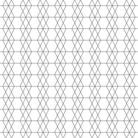 Seamless pattern. Abstract linear textured background. Modern stylish geometrical texture. Regularly repeating thin lines, hexagons, rhombuses. Vector element of graphical design