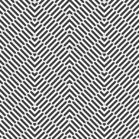 Vector seamless pattern. Abstract small textured background. Classical simple repeating geometrical texture with zigzag shapes, small squares, hexagons, corners