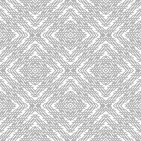 Seamless pattern. Modern elegant geometrical texture with regularly repeating intersecting thin lines in the form of rhombus tiles. Outline. Contour. Vector element of graphical design 向量圖像