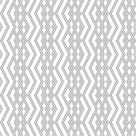 Vector seamless pattern. Abstract small textured background. Regularly repeating modern geometrical texture with small rhombuses, diamonds, zigzag shapes Ilustração