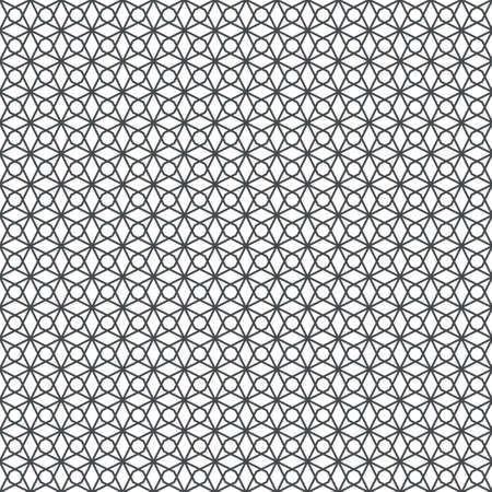 Vector seamless pattern. Modern stylish geometrical texture with linear rhombuses and stars which form small textured regularly repeating background.