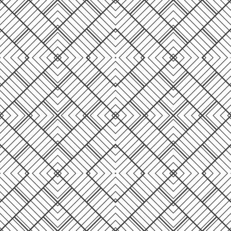 Seamless pattern. Modern stylish texture with thin lines. Regularly repeating geometrical tiles with rhombuses, diamonds. Vector element of graphical design