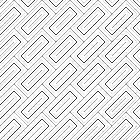 Seamless pattern. Modern stylish texture with thin lines. Regularly repeating diagonal rectangl shapes. Vector element of graphical design