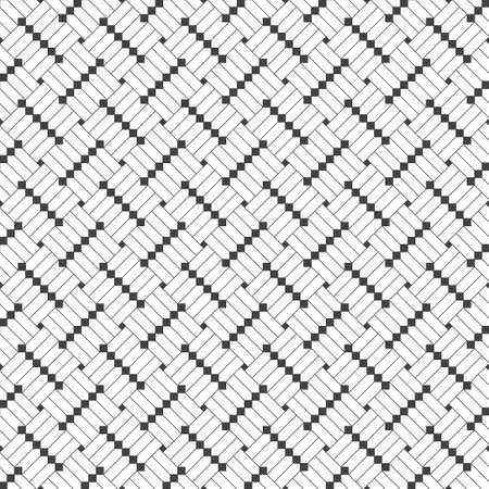 Seamless pattern. Modern elegant texture. Regularly repeating geometrical tiles with linear rhombuses, diamonds, squares. Thin line. Vector element of graphical design