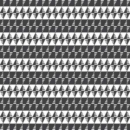 Seamless pattern. Repeating modern geometrical texture consisting of strips, small triangles, rhombuses, diamonds. Vector element of graphical design Vectores