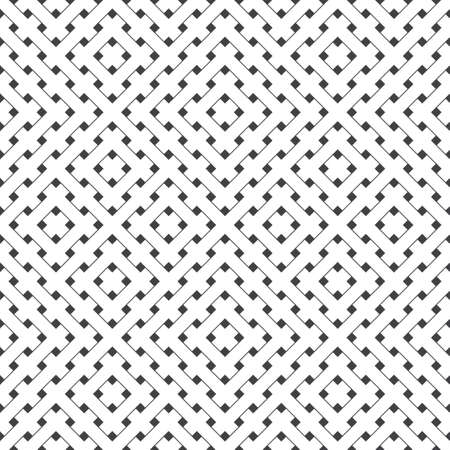 Seamless pattern. Modern stylish texture with thin lines. Regularly repeating geometrical tiles with rhombuses, corner lines, crosses. Vector element of graphical design Vectores
