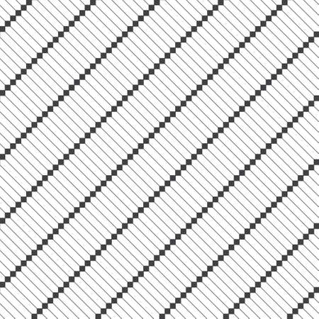 Seamless pattern. Modern elegant diagonal texture. Regularly repeating geometrical tiles with linear hexagons, squares. Thin line. Vector element of graphical design