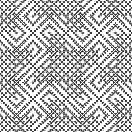 Seamless pattern. Modern simple texture. Regularly repeating rhombus tiles with small dots, circles. Polka dot. Vector element of graphical design