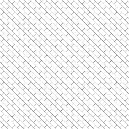Geometric seamless pattern in the form of a brick wall diagonal located. Texture with rectangles and thin lines. Monochrome. Vector illustration 일러스트