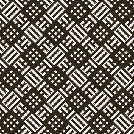 Seamless pattern. Repeating modern geometrical texture consisting of strips, small triangles, rhombuses, diamonds. Vector element of graphical design 일러스트