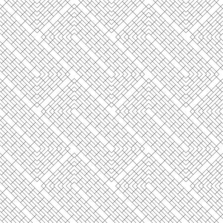 Seamless pattern. Modern elegant texture. Regularly repeating diagonal linear rectangle shapes. Thin line. Vector element of graphical design