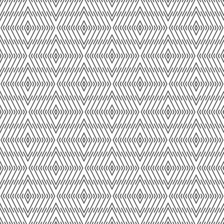 Vector seamless pattern. Trendy geometric texture. Modern linear ornament. Regularly repeating geometrical rhombus tiles with thin lines. 일러스트