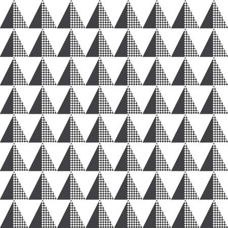 Seamless pattern. Repeating modern geometrical texture consisting of small triangles, rhombuses, diamonds. Vector element of graphical design