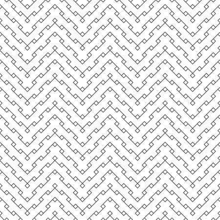 Seamless pattern. Modern stylish geometrical texture. Regularly repeating zigzag shapes with small rhombuses, diamonds, thin lines, corners. Vector element of graphical design