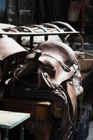 saddle: handmade saddle horse