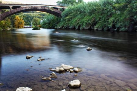 exposicion: la exposición a largo río del río larga exposición Foto de archivo